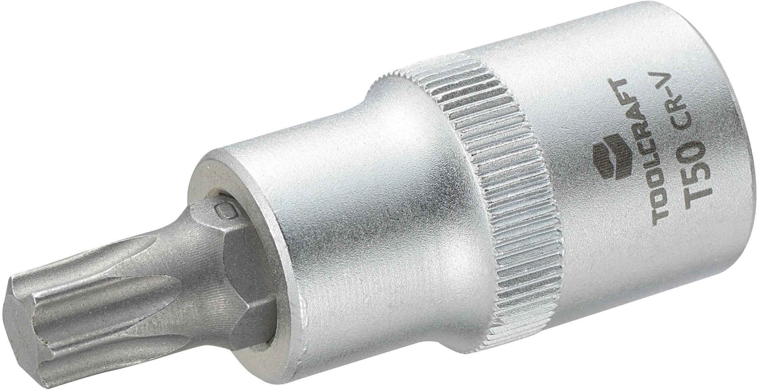 Douille embout TORX® intérieur T 50 Longueur: 55 mm TOOLCRAFT 816168 Propulseur (tournevis): 12