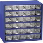 Étagère de rangement séparations fixes (L x l x h) 307 x 155 x 284 mm Nombre de compartiments: 30