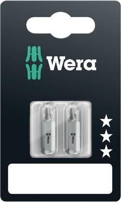 Embout cruciforme PH 3 Wera 05073306001 Acier à outils allié, extra-rigide Forme: D 6.3 2 pièce