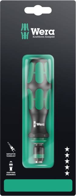 """Tournevis porte-embouts 1/4"""" (6.3 mm) Wera 05073541001 DIN 3126, DIN ISO 1173 1 pc(s)"""