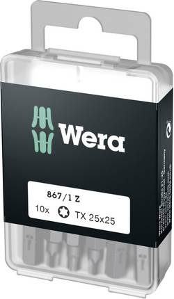 Embout Torx T 25 Wera 05072409001 Acier à outils allié, extra-rigide Forme: D 6.3 10 pc(s)