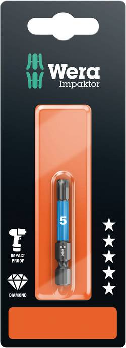 Embout IMP DC Impaktor 840/4, 4.0 x 50, 1 pièce Wera 840/4 IMP DC SB SiS 05073944001 Longueur:50 mm Conditionnement 1