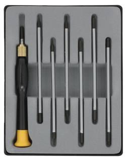 Donau Elektronik Set de lames et tête sphérique à six pans dans un boîtier pratique