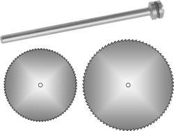 2 lames de scie circulaire Ø 16 et 22 mm avec mandrin Donau Elektronik 1641 Diamètre: 22 mm