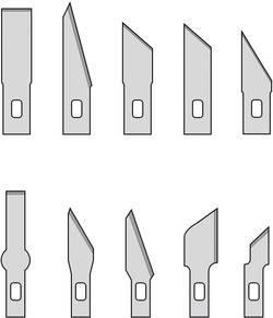 10 lames de rechange Donau Elektronik MS10 Adapté aux couteaux Donau MS13 et MS01