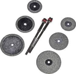 Set de disques diamantés 8pcs 6 DISQUES POUR COUPER ET LIMER Diam. tige 2,35 mm