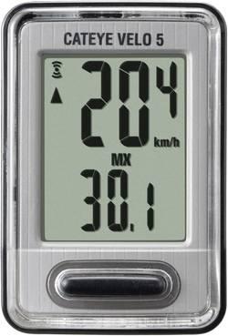 Compteur de vélo Cateye CC-VL520 transmission par câble avec capteur de roue