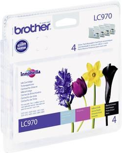 Brother Encre LC-970 d'origine pack bundle noir, cyan, magen
