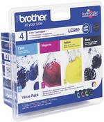 Brother Encre LC-980 d'origine pack bundle noir, cyan, magen