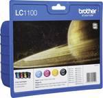 Brother Encre LC-1100 d'origine pack bundle noir, cyan, magenta, jaune LC1100VALBP