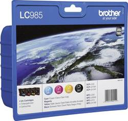 Brother Encre LC-985 d'origine pack bundle noir, cyan, magen