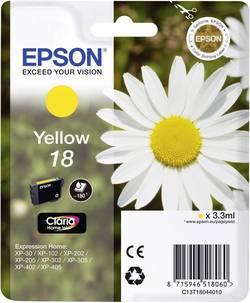 Encre d'origine pour imprimante EPSON T1804/18 C13T18044010 Jaune