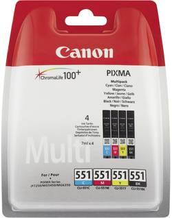 Cartouches originales CANON CLI-551 Multipack 6509B009 Cyan, Magenta, Jaune, Noir