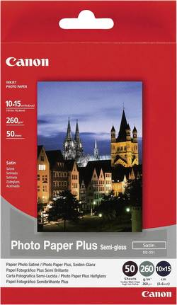 Papier photo Canon Photo Paper Plus Semi-gloss SG-201 10 x 15 cm 260 g/m² 50 feuille(s) satiné brillant