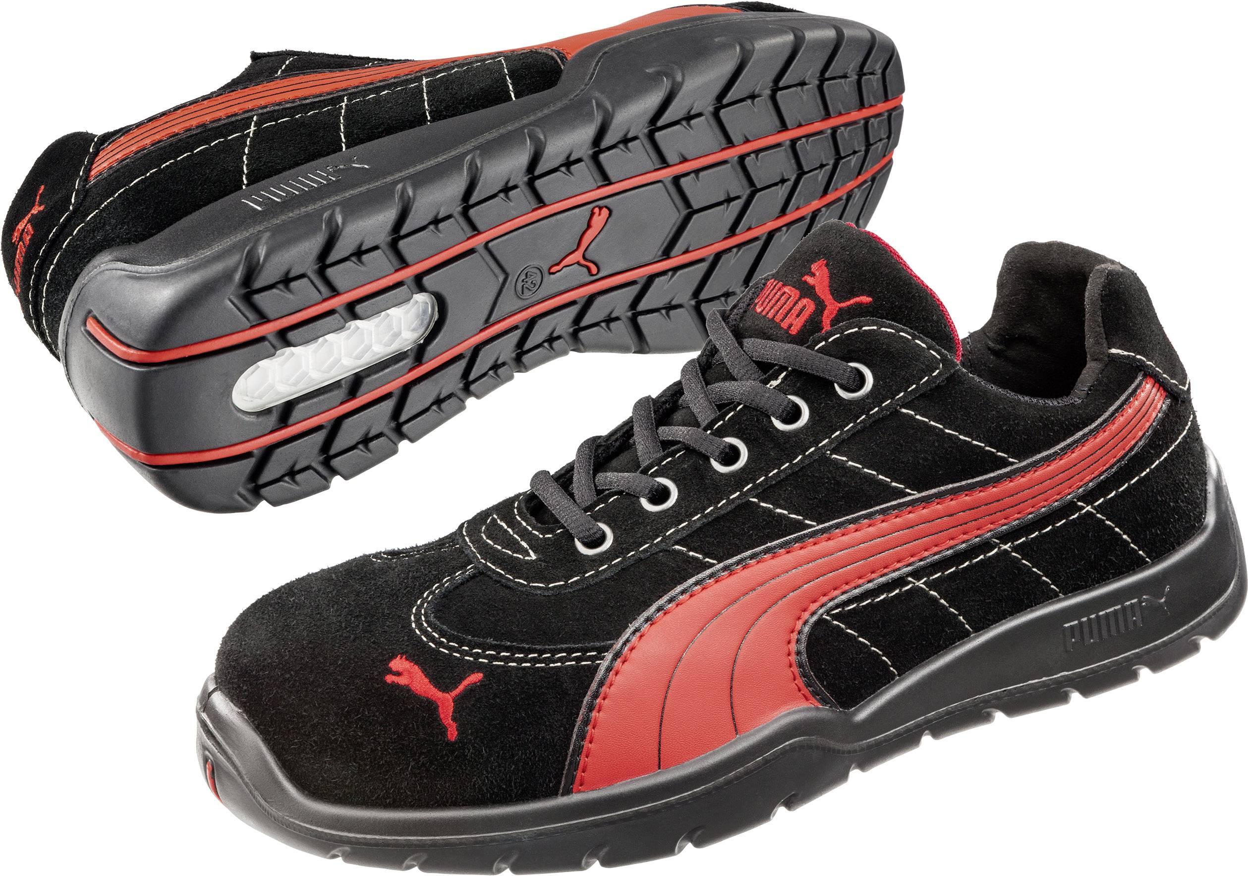 Chaussures basses de sécurité S1P Taille: 43 PUMA Safety FUSE MOTION RED LOW HRO SRA 642540 coloris noir, rouge 1 paire