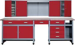 Set établi + armoire murale sparset 2 rouge Küpper 70425-2