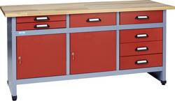 Etabli 2 portes et 7 tiroirs rouge Küpper 12272