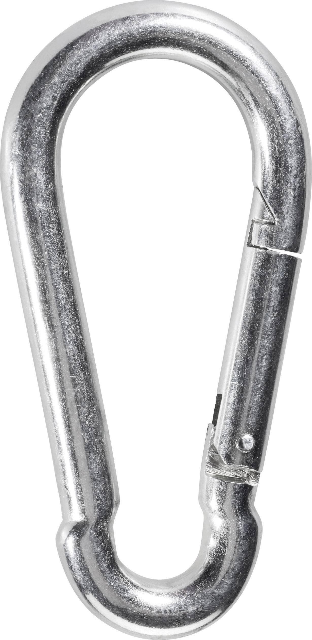 Lot de 2 mousquetons en acier galvanis/é 11 x 120 mm DIN 5299D avec fermoir /à ressort