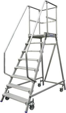 Echelle à plate-forme mobile, accessible d'un côté Krause 820143 Hauteur de travail (max.) 2,95 m