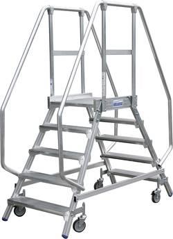 Echelle à plate-forme mobile accessible des deux côtés Krause 820280 Hauteur de travail (max.) 3,90 m