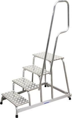 Escalier mobile avec rampe et roulettes Krause 805096 Hauteur de travail (max.) 2.80 m