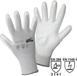 Gants de protection worky 1171 nylon / carbone avec revêtement PU EN 388 RISQUES MECANIQUES 4131 + EN 1149-1 Taille 10 (