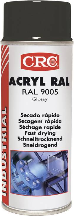 Vernis de protection acrylique RAL 9005 CRC 31063-AA noir (brillant) 400 ml