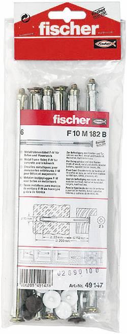 Lot de 6 fixations métalliques pour cadres Fischer F10 M 182 B