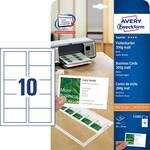 Cartes de visite imprimables, bords lisses Avery-Zweckform C32011-10 85 x 54 mm blanc 100 pc(s)