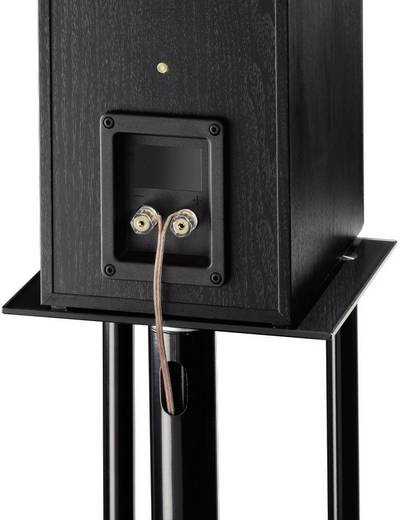 pied pour haut parleur hama 49813 rigide noir 1 paire. Black Bedroom Furniture Sets. Home Design Ideas