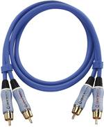 Câble audio Oehlbach 2701 [2x Cinch / RCA mâle - 2x Cinch / RCA mâle] 1 m bleu contacts dorés