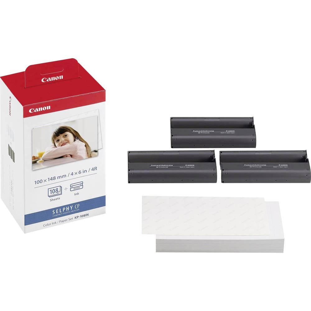 cartouche d 39 imprimante photo encre papier canon selphy photo pack kp 108in 1 set sur le site. Black Bedroom Furniture Sets. Home Design Ideas