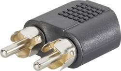 Adaptateur Y SpeaKa Professional SP-759000 [2x Cinch / RCA mâle - 1x Jack femelle 3.5 mm] 0 m noir