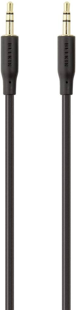 Câble audio Belkin F3Y117bf5M [1x Jack mâle 3.5 mm - 1x Jack mâle 3.5 mm] 5 m noir contacts dorés