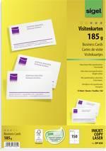 Cartes de visite imprimables, microperforées Sigel DP830 85 x 55 mm blanc profond 150 pc(s)