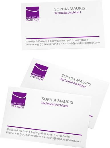 Cartes De Visite Imprimables Microperfores Sigel DP830 85 X 55 Mm Blanc Profond 150 Pcs