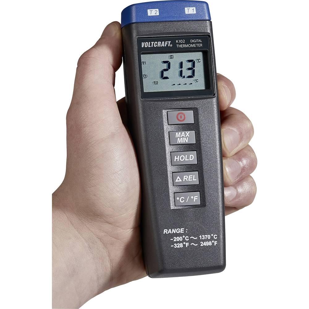 Merilnik temperature VOLTCRAFT K102 -200 do +1370 °C tip senzorja K