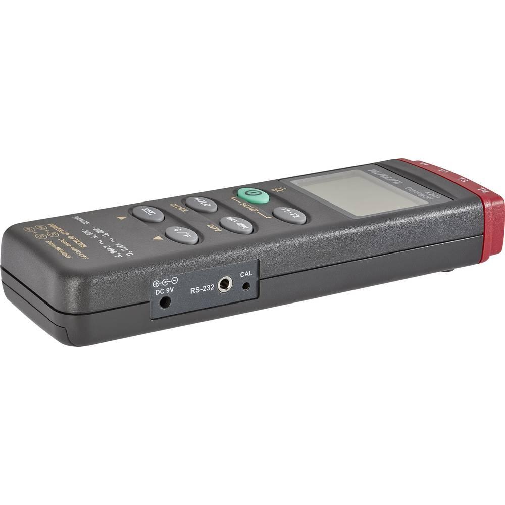 Mjerač temperature VOLTCRAFT K204 Datalogger -200 do +1370 °C senzor tipa K funkcija zapisivača podataka kalibriran prema: tvorničkom standardu