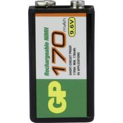 9 V blok akumulatorska baterija NiMH GP Batteries 6LR61 170 mAh 9.6 V 1 kom.