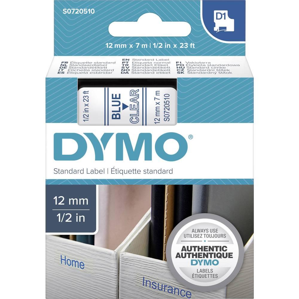 Pisalni trak DYMO 45011 barva traku: transparentna barva napisa:modra 12 mm 7 m