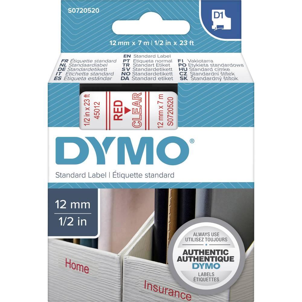 DYMO BAND D1 STANDARD 12MM TRANSP/rdeč S0720520