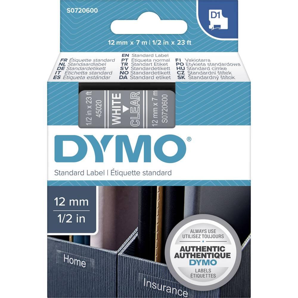 DYMO D1 trak 45020 trak barva: prozorna, barva pisave: bela 12 mm 7 m S0720600