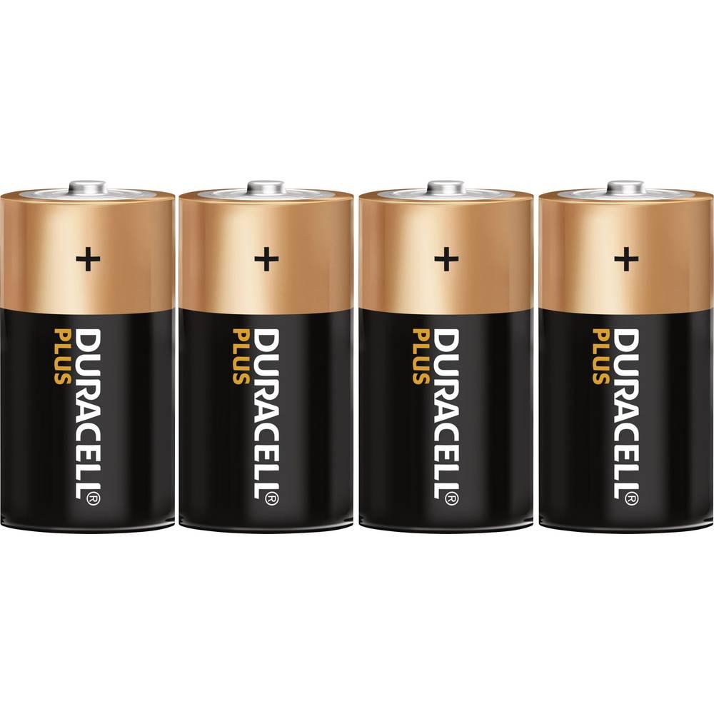 Mono baterija (D) alkalno-manganova Duracell Plus LR20 1.5 V 4 kosi