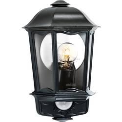 Steinel L 190 S 644413 zunanja stenska svetilka z detektorjem gibanja energijsko varčna svetilka, led E27 100 W črna