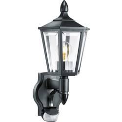 Zunanja stenska svetilka s senzorjem gibanja, varčna žarnica, LED E27 60 W Steinel L 15 617813 črne barve