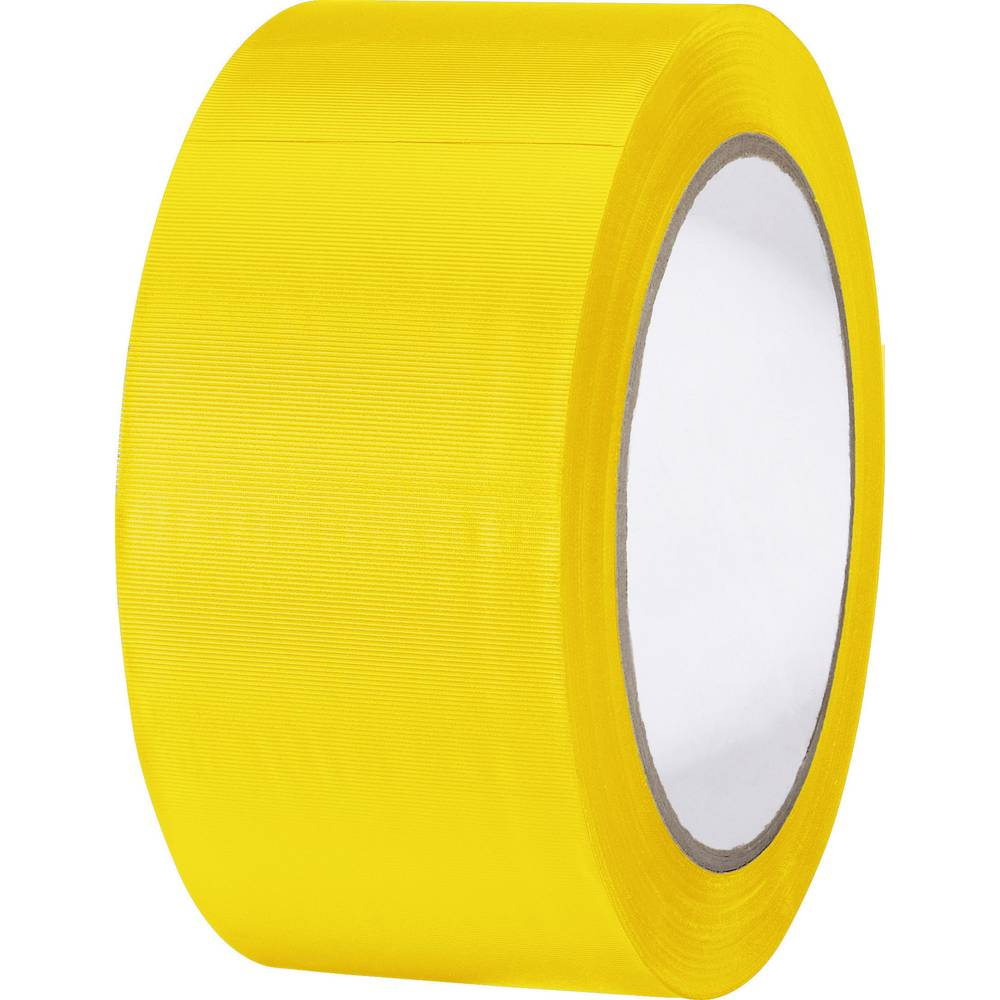 Univerzalni lepilni trak iz PVC-ja Toolcraft 832450G-C, (D x Š) 33 m x 50 mm, rumene barve