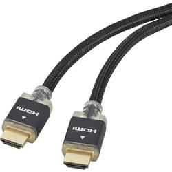 HDMI priključni kabel sa LED [1x HDMI-utikač 1x HDMI-utikač] 1 m crn