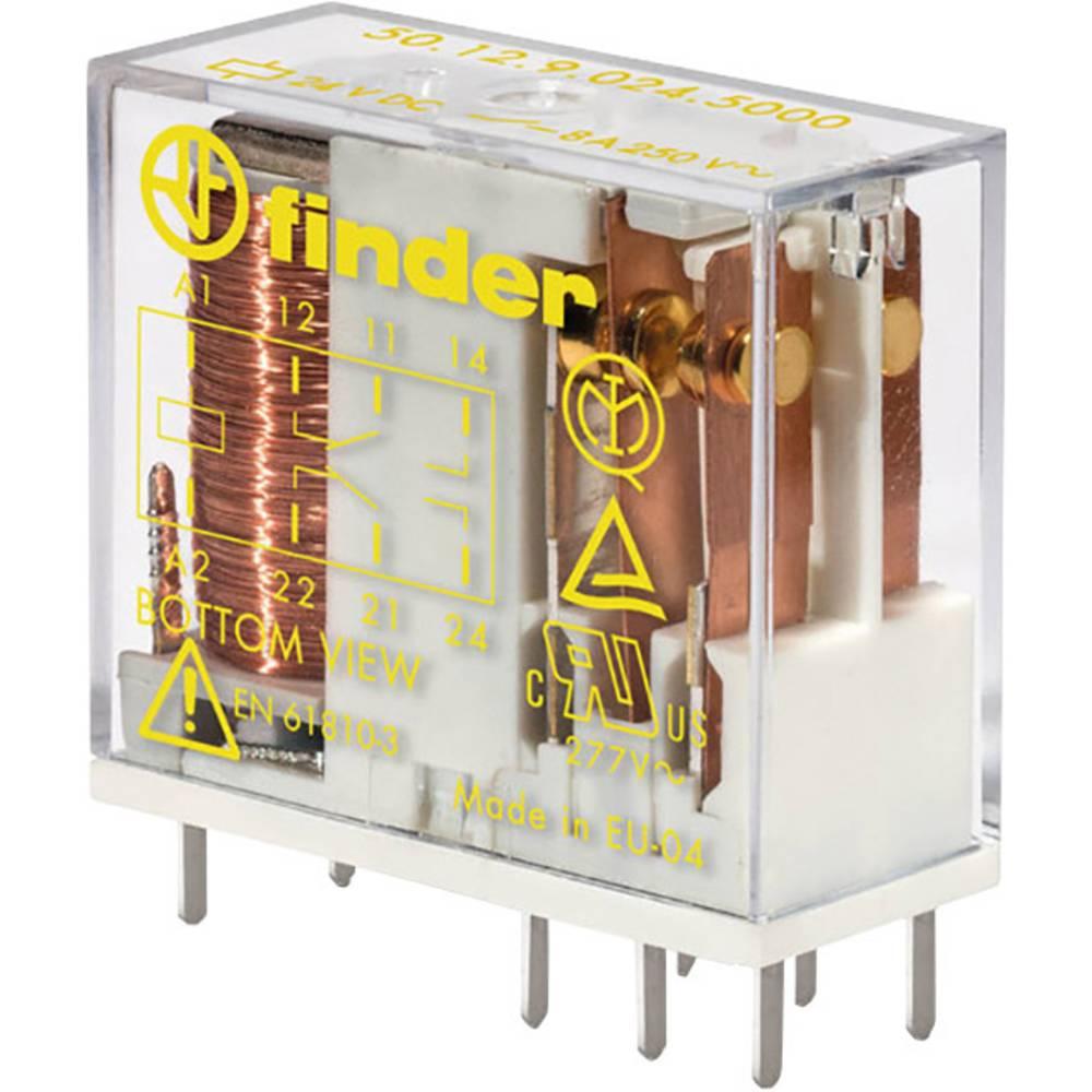 Varnostni rele za tiskano vezje Finder 50.12.9.024.5000, 24V/DC, 2 x preklopni k., 8 A