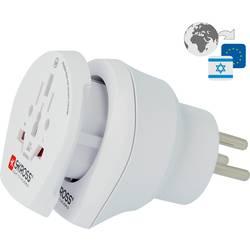 Potovalni adapter Skross 1.500216 Izrael/varnostni kontakt, bele barve