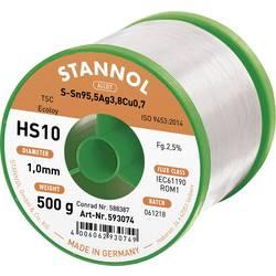 Neosvinčena žica za spajkanje Stannol HS10 2510 Sn95Ag4Cu1 500 g 1.0 mm